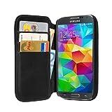 PEDEA Genuine Leather Case Cover for Samsung Galaxy S5 - Black