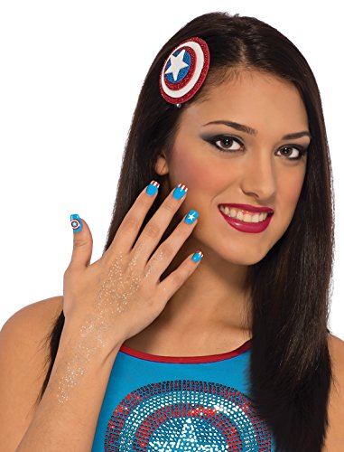 Rubie's Costume Co Women's Marvel Universe American Dream Hair and Nails Kit