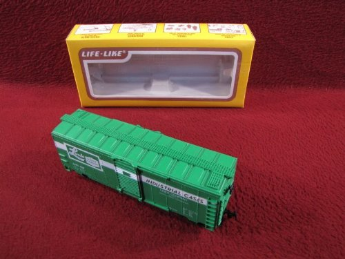 HO Scale LIFE-LIKE #8475 LINDE Union Carbide 40' BOX CAR in Original Box - 1