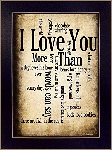 The Craft Room SB179C I Love You Framed Print by Artist Susan Ball, 10 x 14-Inch