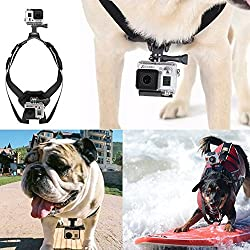 SMILEDRIVE CHEST AND BACK MOUNT DOG OR PET HARNESS FOR GOPRO HERO 4/3+/3/2/1 AND SJCAM SJ4000 SJ5000