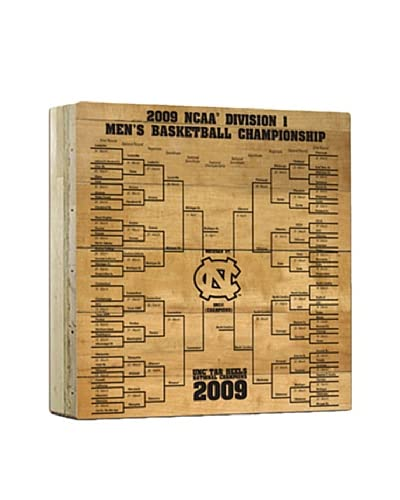 Steiner Sports Memorabilia North Carolina Actual Court Piece With 2009 Tournament Bracket