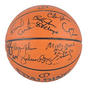 Philadelphia 76ers 1983 Team Autographed Basketball - Memories - Mounted Memories... by Sports Memorabilia
