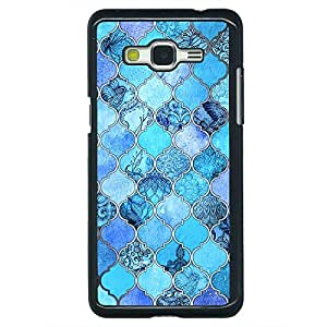 Jugaaduu Blue Moroccan Tiles Pattern Back Cover Case For Samsung Galaxy Grand Prime G530H