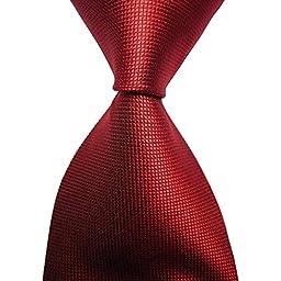 Classic Woven Men\'s Ties Neckties for Wedding Party Dress (Solid Red)