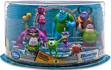 Disney / Pixar Monsters University Exclusive 10 Piece Deluxe PVC Figurine Playset