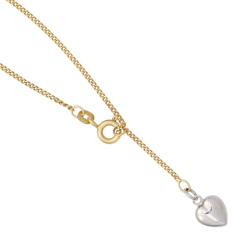 Damen Gold Fußkettchen Fußkette Herz 585 Gelbgold teilrhodiniert 25 cm als Weihnachtsgeschenk kaufen