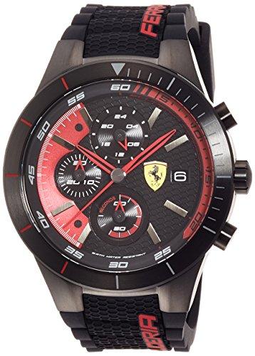Scuderia Ferrari Orologi Herren-Armbanduhr Red Rev Evo Analog Quarz Silikon 0830260