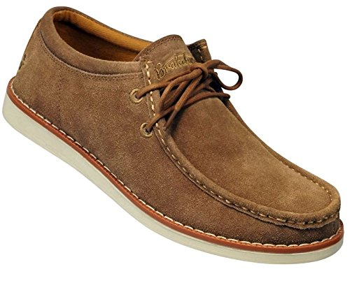 Brakeburn Waverly Sand Suede New Mens Lace up Boat Shoes