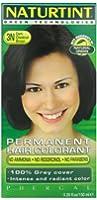 Naturtint Coloration capillaire naturelle permanente - Ingrédients végétaux actifs - 100% couvrant - Couleur 3N Châtain foncé
