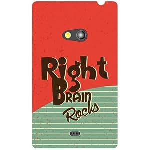 Nokia Lumia 625 Back Cover - Right Brain Rocks Designer Cases