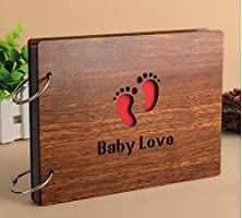 buy Yalis Diy Hollow Wood Photo Album Baby Love Anniversary Scrapbook (Out 8 X 6 Inches)