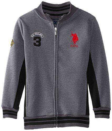 dark gray polo shirt  dark heather gray