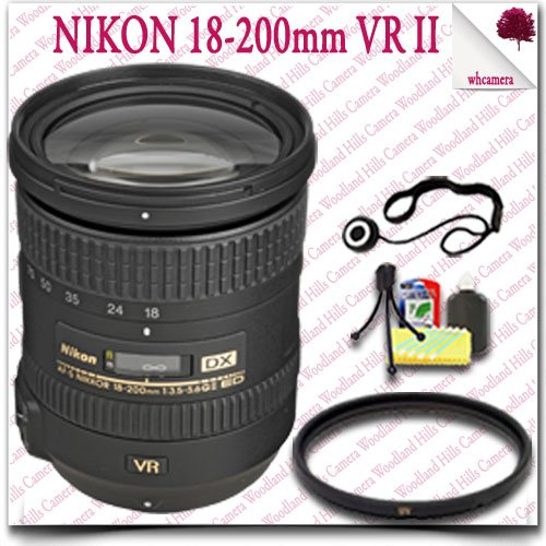 Nikon Af-S Dx Nikkor 18-200Mm F/3.5-5.6G Ed Vr Ii Lens 6Pc Nikon Saver Bundle