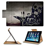Skull And Crossbones Artistic Design Apple Ipad Air Retina Display 5th Flip Case Stand Smart Magnetic Cover Open Ports Customized Made to Order Support Ready Premium Deluxe Pu Leather 9 7/16 Inch (240mm) X 7 5/16 Inch (185mm) X 5/8 Inch (17mm) Luxlady Ipad Professional Ipad generation Accessories Retina Display Graphic Background Covers Designed Model Folio Sleeve HD Template Designed Wallpaper Photo Jacket Wifi 16gb 32gb 64gb Luxury Protector