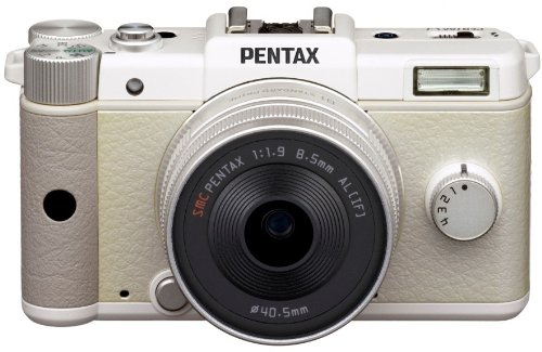 Pentax Q Compact System Camera with 8.5mm and 5 to 15mm Lens Kit - White