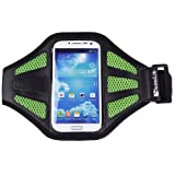 SumacLife Running Sports Armband Case for Motorola MOTO X / MOTO G / Motorola DROID X / Motorola DROID RAZR (Green-Mesh)