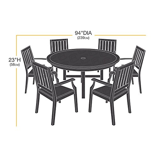 AmazonBasics Round Table and Chair Set Patio Cover Furniture Outdoor