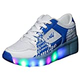 iBaste Moda Zapatos de caminar rápido cordones lámpara LED ruedas automático