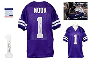Warren Moon Autographed Signed Washington Huskies Jersey