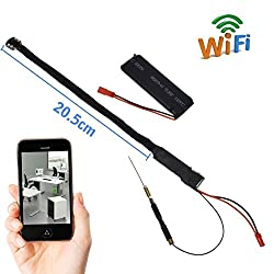 Kushagra Wifi Spy ultra mini pin hole camera directly seen on your mobile with recording in mobile with high-definition video capabilities