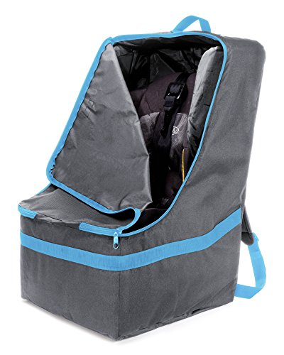 ZOHZO Car Seat Travel Bag - Adjustable, Padded Backpack for Car Seats - Car Seat Travel Tote - Save Money, Make Traveling Easier - Compatible with Most Name Brand Car Seats (Gray) (Symphony 65 compare prices)