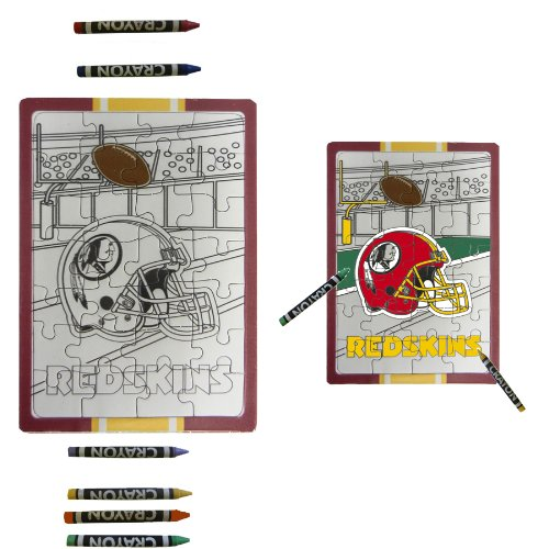 Washington Redskins Children Fun Color Your Own Puzzle Set
