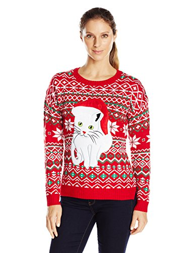 Fair Isle Kitty Ugly Christmas Sweater
