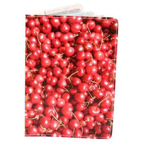 Farmer's Market Cherries Passport Holder