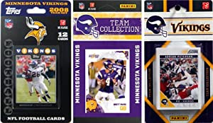 NFL Minnesota Vikings 3 Different Licensed Trading Card Team Sets by C&I Collectables