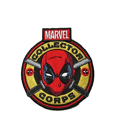 J&C Family Owned Marvel Avengers Collectors Corps Deadpool Logo Patch Gift Set