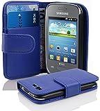 Cadorabo ! PREMIUM - Book Style Hülle im Portemonnaie Design für Samsung Galaxy POCKET NEO (GT-S5310 - NICHT für 2.Generation) in KÖNIGS-BLAU