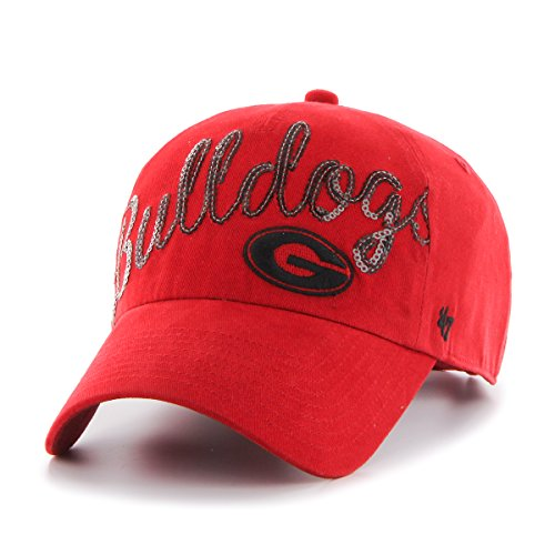 NCAA Georgia Bulldogs Women's Sparkle Script Clean Up Hat, Women's, Red (Georgia Bulldogs Mens Hoodie compare prices)
