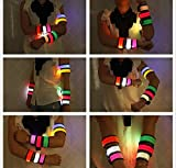 GlowPRO LED Slap Bracelet - Santa Claus Loves these Stocking Stuffer Christmas Gifts. Glow in the Dark Night Safety Armband improves night vision and Keeps Kids Happy in the Darkness and Safe at Night