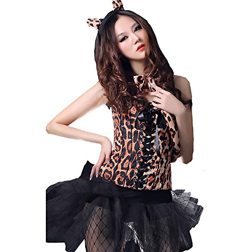 Sexy Leopard Cat Ladies Cat Girl Costume party Fancy Dress