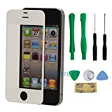 New Replacement LCD Front Screen Glass Lens for iPhone 4 4S White