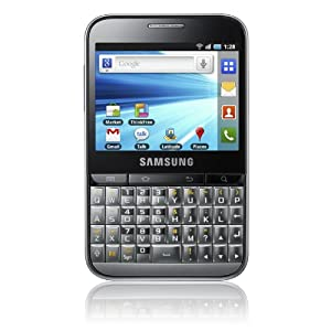 Samsung B7510 Galaxy Pro Unlocked GSM Smartphone with 3 MP Camera, Android OS, Touchscreen, QWERTY keyboard, Wi-Fi, GPS and MicroSD Slot – No Warranty – Platinum Silver