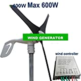 GOWE wind power generation 3blades Max 600w with 400w wind controller charging battery directly . strong wind protection function