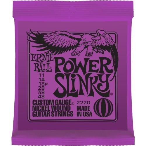 Ernie Ball 2220 Power Slinky Electric Guitar Strings 11-48 2 Pack