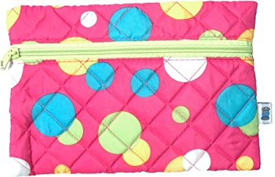 Cheapest Quilted Cosmetic Bag - Pink Dots - By Threadart by Threadart - Free Shipping Available