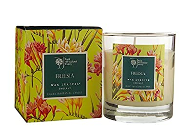 RHS Freesia Scented Candle Glass from Wax Lyrical