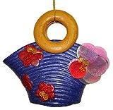 Blue Sequin & Glitter Fun Beach Bag Purse Christmas Ornament