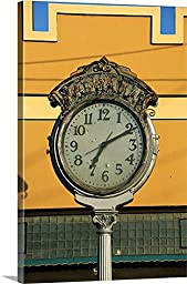 Vintage Street Clock Gallery-Wrapped Canvas