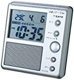 SATO お喋りサーモEX PC-8700 【温度と時刻を音声でお知らせ】 1084-00