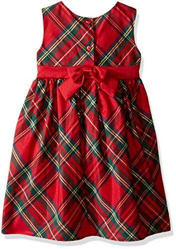 Blueberi Boulevard Toddler Girls' Plaid Dress Withshrug, Red, 3T