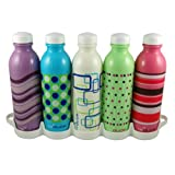 Base Brands 16-Ounce Reduce WaterWeek Bottle, Set of 5 ~ Base Brands