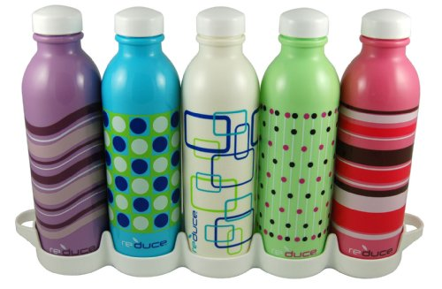 Base Brands 16-Ounce Reduce WaterWeek Bottle, Set of 5