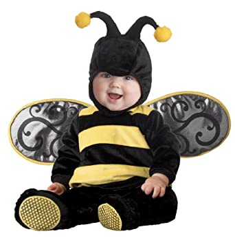 InCharacter Infant Lil' Stinger Bee Costume, Black/Yellow, Large (18 months - 2T)