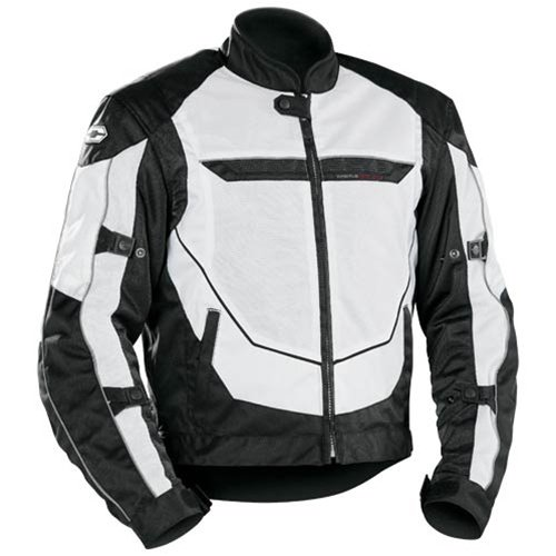 Product Castle Turbine Motorcycle Jackets White Medium Atv