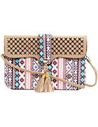 Tribal Printed Mobile Pouch Sling Bag For Girls To Carry Phone And Cards In Style